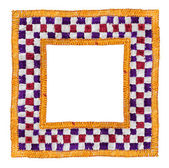 Square Isolated Textile Border — Stock Photo