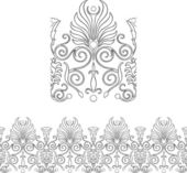 Stylized repeatable Victorian style outlined border — Stock Vector