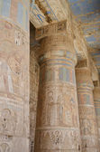 Columns inside the temple at Esna — Stock Photo