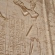 Hieroglyphic carvings in Egyptitemple wall — Stock Photo #6482188