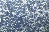 Blue silver handmade art paper with tribal print — Stock Photo