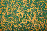 Tribal pattern blue golden handmade art paper — Stock Photo