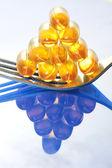 Fish oil pills — Stock Photo