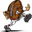 Постер, плакат: American Football Ball Player Cartoon