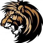 Lion Head Graphic Mascot Logo — Stock Vector