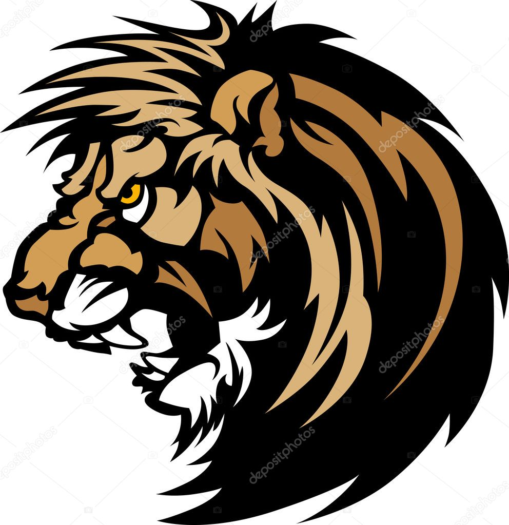 Graphic Mascot Image of a Lion Head — Stock Vector #6385746