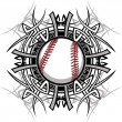 Baseball Softball Tribal Graphic Image — Stock Vector