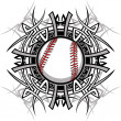 Stock Vector: Baseball Softball Tribal Graphic Image