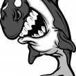 Killer Whale Mascot Cartoon — Imagen vectorial