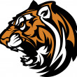 Tiger Mascot Graphic — Stock vektor