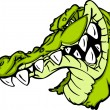 Stok Vektör: Gator or Alligator Mascot Cartoon
