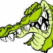 Gator or Alligator Mascot Cartoon — 图库矢量图片
