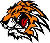 Tiger Mascot Graphic — Stock Vector