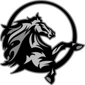Mustang Stallion Graphic Mascot Image — Stock vektor