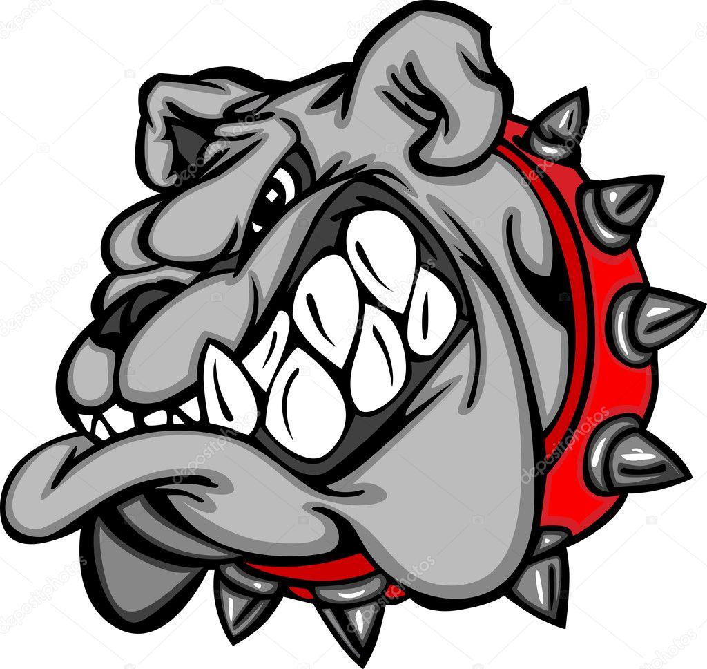 Bulldog cartoon face illustration stock illustration