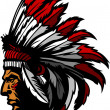 Indian Chief Head Graphic - Imagen vectorial