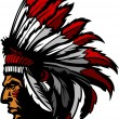 Indian Chief Head Graphic — Imagen vectorial