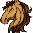 Mustang Stallion Mascot Cartoon Image - Stock Vector
