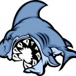 Shark Mascot Cartoon Image — Stock Vector
