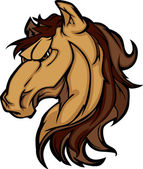 Mustang Stallion Mascot Cartoon Image — Stock Vector