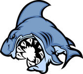 Shark Mascot Cartoon Image — Stock Vector