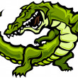 Gator or Alligator Mascot Body Vector Graphic — Stockvectorbeeld