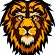 Lion Head Graphic Mascot Vector Image — ストックベクター #6583625