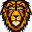 Lion Head Graphic Mascot Vector Image — Stockvector #6583625