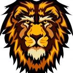 León mascota gráfica principal vector de la imagen — Vector de stock