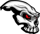 Skull with Cartoon Vector Image — Stock Vector