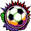 Soccer Ball Colorful Mosaic Vector Design — Stock Vector