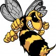 Bee Hornet Cartoon Vector Image — Vettoriali Stock