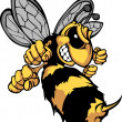 Bee Hornet Cartoon Vector Image — Stock Vector #6638171