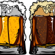 Beer or Root Beer Mugs Vector Images — Stockvektor