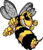 Bee Hornet Cartoon Vector Image — Stock Vector