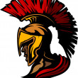 Roman Centurion Mascot Head with Helmet Vector Graphic — Stock Vector