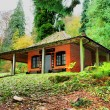 Stock Photo: Japanese Rest House, Batsford Arboretum