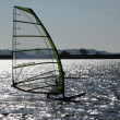 Windsurfer on Draycote Water - Foto de Stock