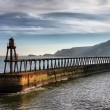 Whitby East Pier — Stockfoto