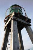 Faro de whitby west pier — Foto de Stock