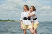 Twins girls — Stock Photo