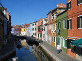Burano island colorful houses in Venice Italy — Stock Photo