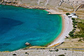 Vela Luka beautiful clean beach, Krk, Croatia — Stock Photo
