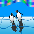 Fun penguins — Stockvektor