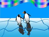 Zabawa pingwiny — Wektor stockowy