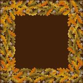 Autumn frame with acorn — Stock Vector