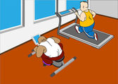 Ginásio. exercício — Vetorial Stock