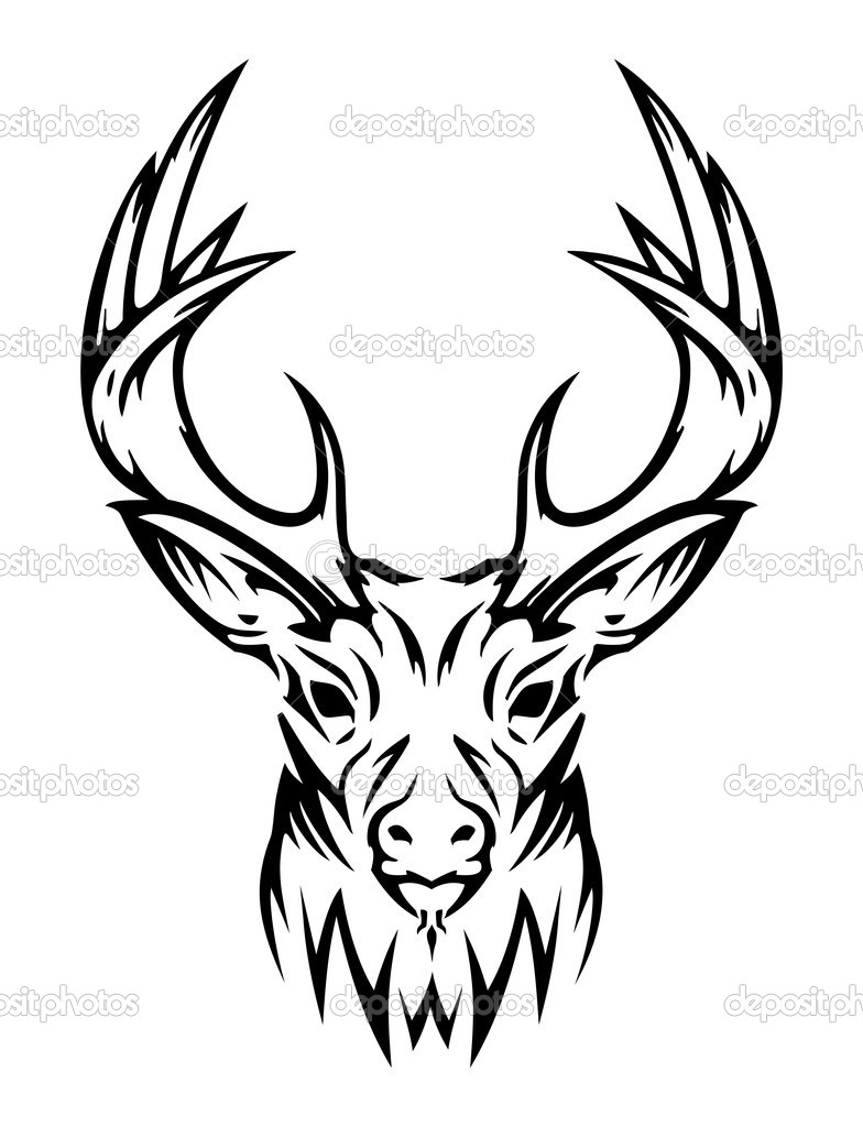 deer skull coloring pages - photo#12