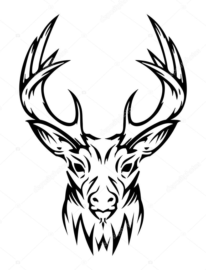 Tribal Deer Drawing
