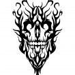 Skull from smoke - Stock Vector